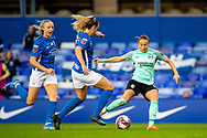 Brighton & Hove Albion forward  Kayleigh Green (15) shoots at goal during the FA Women's Super League match between Birmingham City Women and Brighton and Hove Albion Women at St Andrews, Birmingham United Kingdom on 12 September 2021.