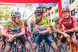 07.07.2017, St. Johann Alpendorf, AUT, Ö-Tour, Österreich Radrundfahrt 2017, 5. Kitzbühel - St. Johann/Alpendorf (212,5 km), im Bild Stephan Rabitsch (AUT, Team Felbermayr Simplon Wels), Stefan Denifl (AUT, Aqua Blue Sport), Felix Grossschartner (AUT, CCC Sprandi Polkowice) // Stephan Rabitsch (AUT Team Felbermayr Simplon Wels) Stefan Denifl (AUT Aqua Blue Sport) Felix Grossschartner (AUT CCC Sprandi Polkowice) during the 5th stage from Kitzbuehel - St. Johann/Alpendorf (212,5 km) of 2017 Tour of Austria. St. Johann Alpendorf, Austria on 2017/07/07. EXPA Pictures © 2017, PhotoCredit: EXPA/ JFK