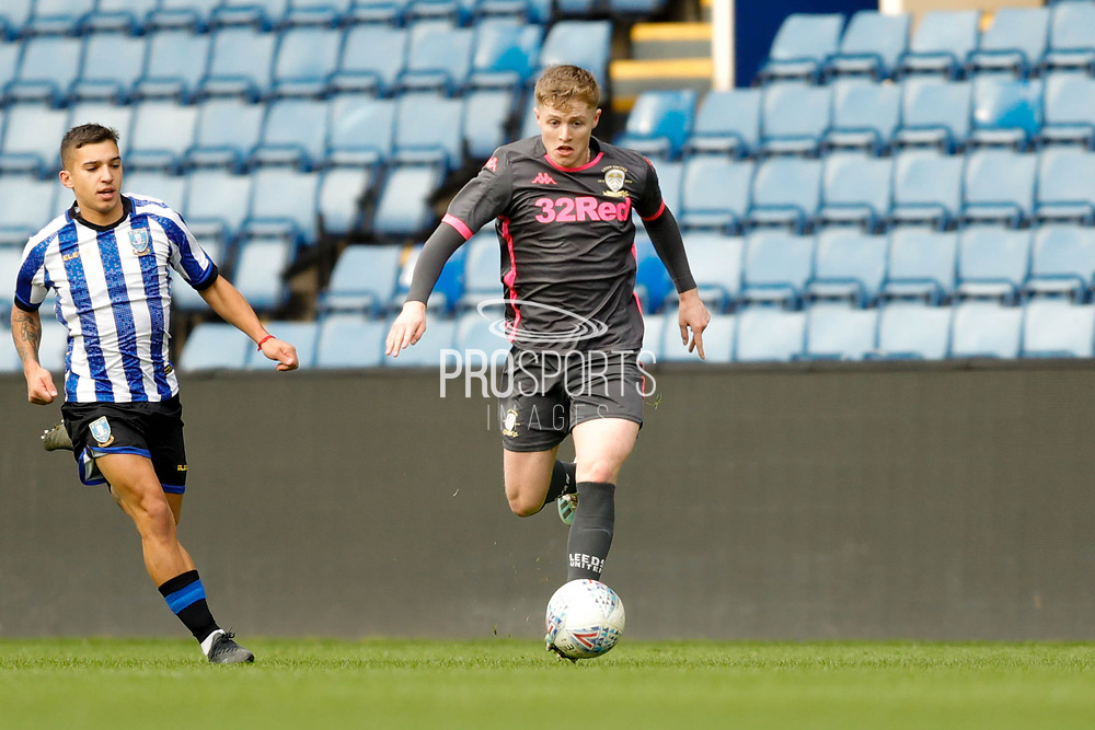 Leeds United Liam McCarron (3)  during the U23 Professional Development League match between U23 Sheffield Wednesday and U23 Leeds United at Hillsborough, Sheffield, England on 3 February 2020.