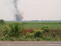 View of a Dust Devil in Guatemala from a Bus along Highway CA9. Image taken with a Leica V-Lux 20 camera (ISO 80, 19.5 mm, f/4.4, 1/500 sec)