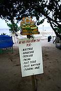 Sign on Sanur Beach. Sanur, Bali, Indonsia.