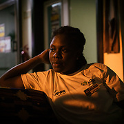 Belinda Alayi (24, Single Mom of 4 year old) works at a hotel in Ho, where she earns around $100 per month. She studying for a degree in business through a long distance programme where she attends classes on weekends.