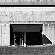 Firminy-Vert, France, Alvernia-Rodano-Alpi, 2016: Main entrance, Saint Pierre Church (1960-2006) - Le Corbusier arch - Visit Shop Images to purchase and download a digital file and explore other AS images archive. Photographs by Alejandro Sala