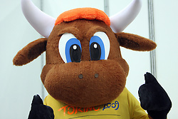 Official mascotte of the Championship a day before European Athletics Indoor Championships Torino 2009 (6th - 8th March), at Oval Lingotto Stadium,  Torino, Italy, on March 5, 2009. (Photo by Vid Ponikvar / Sportida)