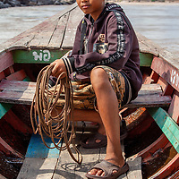 Our guide and boat captain in Sam Phan Bok, Ubon Rachathani province.