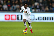 Nathan Dyer of Swansea city in action.Premier league match, Swansea city v West Bromwich Albion at the Liberty Stadium in Swansea, South Wales on Saturday 9th December 2017.<br /> pic by  Andrew Orchard, Andrew Orchard sports photography.