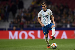 March 22, 2019 - Madrid, Madrid, Spain - Giovani Lo Celso (Betis) of Argentina controls the ball during the international friendly match between Argentina and Venezuela at Wanda Metropolitano Stadium in Madrid, Spain on March 22 2019. (Credit Image: © Jose Breton/NurPhoto via ZUMA Press)