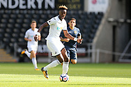 Tammy Abraham of Swansea city in action. Swansea city v Sampdoria , pre-season friendly at the Liberty Stadium in Swansea, South Wales on Saturday August 5th 2017.<br /> pic by Andrew Orchard, Andrew Orchard sports photography.