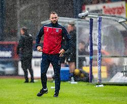 Dundee's manager James McPake. Dundee 1 v 0 Ayr United, Scottish Championship game played 10/8/2019.
