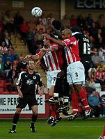 Photo: Ed Godden.<br /> Cheltenham Town v Bristol City. Carling Cup. 22/08/2006.<br /> Bristol City players attack a corner.