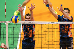 12-05-2019 NED: Abiant Lycurgus - Achterhoek Orion, Groningen<br /> Final Round 5 of 5 Eredivisie volleyball, Orion wins Dutch title after thriller against Lycurgus 3-2 / Pim Kamps #7 of Orion, Wessel Anker #2 of Orion
