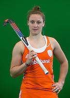 DEN BOSCH -  LIEKE VAN WIJK . Nederlands Hockeyteam  voor nieuwe platform Hockey.nl.    FOTO KOEN SUYK