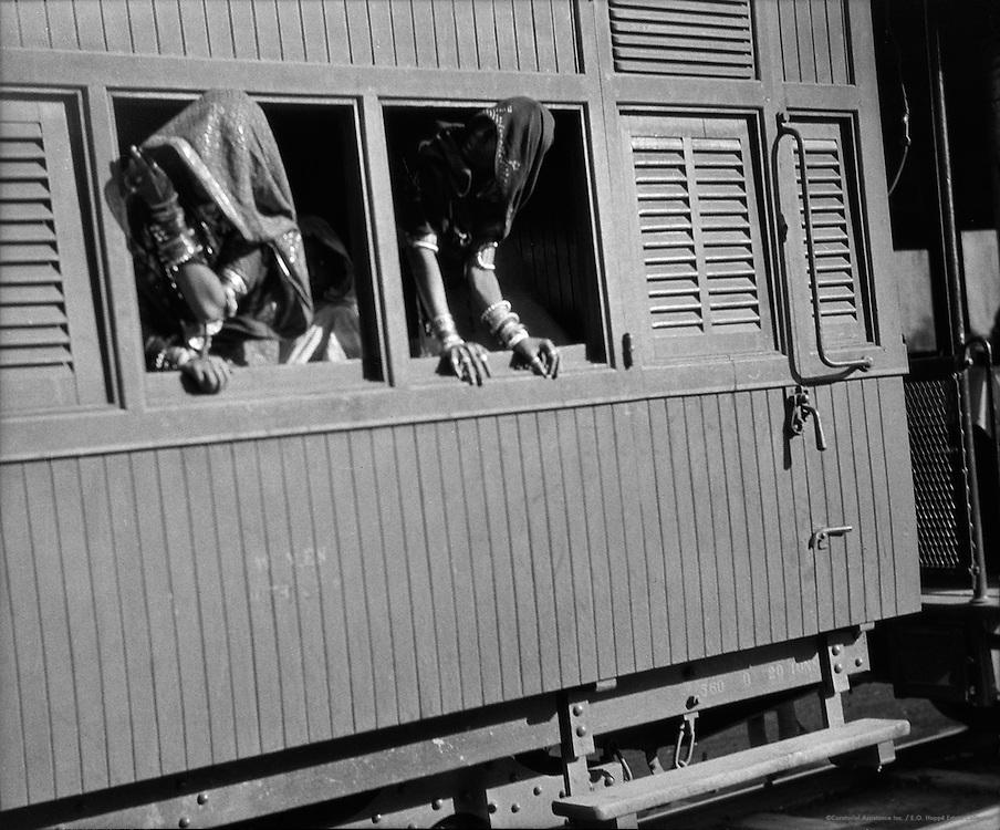 Scene at Dhodhar Railway Station near Chitorgarh, India, 1929