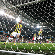 Arsenal's  Kieran Gibbs (R) scores during the UEFA Champions League Play-Offs First leg soccer match Fenerbahce between Arsenal at Sukru Saracaoglu stadium in Istanbul Turkey on Wednesday 21 August 2013. Photo by Aykut AKICI/TURKPIX