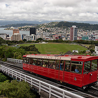 The Wellington Cable Car. The first cable car line in Wellington was opened in 1902.