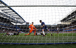 """Chelsea's Alvaro Morata scores his side's second goal of the game during the Premier League match at Stamford Bridge, London. PRESS ASSOCIATION Photo Picture date: Saturday December 2, 2017. See PA story SOCCER London. Photo credit should read: Steven Paston/PA Wire. RESTRICTIONS: EDITORIAL USE ONLY No use with unauthorised audio, video, data, fixture lists, club/league logos or """"live"""" services. Online in-match use limited to 75 images, no video emulation. No use in betting, games or single club/league/player publications."""