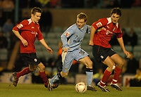 Fotball<br /> FA Cup England 2004/2005<br /> 3. runde<br /> 08.01.2005<br /> Foto: SBI/Digitalsport<br /> NORWAY ONLY<br /> <br /> Coventry City v Crewe Alexandra<br /> <br /> Coventry's Gary McSheffrey (C), who scored two goals in his team's 3-0 win.