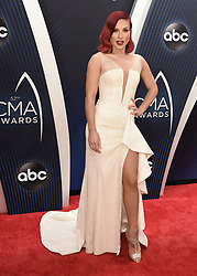 52nd Annual CMA Awards at the Bridgetone Arena on November 14, 2018 iin Nashville, Tennessee. (Photo by Scott Kirkland/PictureGroup). 14 Nov 2018 Pictured: Sharna Burgess. Photo credit: Scott Kirkland/PictureGroup / MEGA TheMegaAgency.com +1 888 505 6342