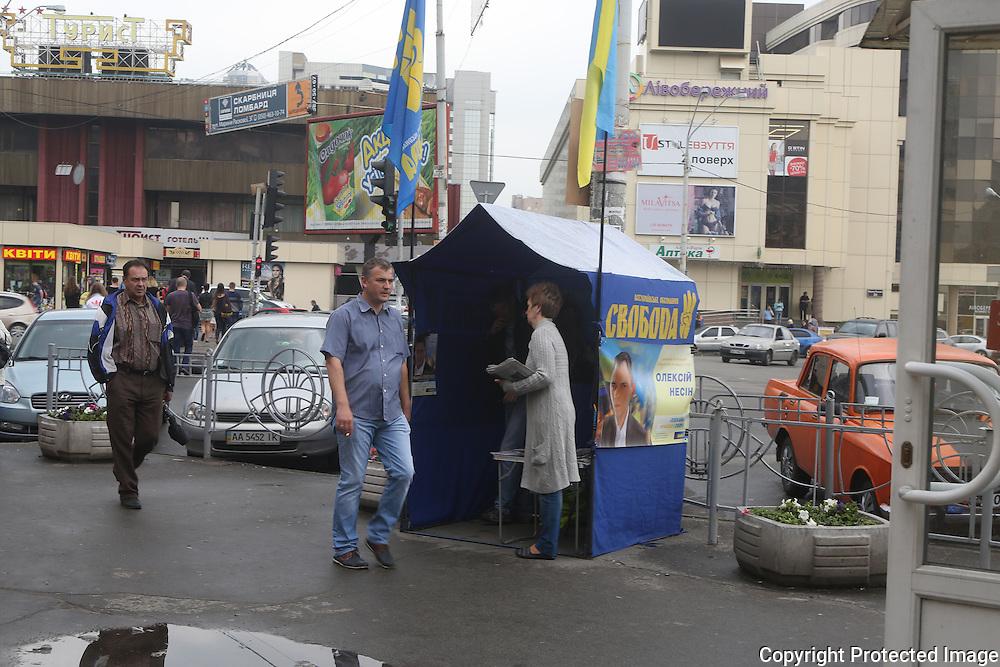 Ukraine Diary: Bohdan Warchomij Wednesday 22 May 2014 Electioneering Livoberezhia Kyiv Photo Bohdan Warchomij