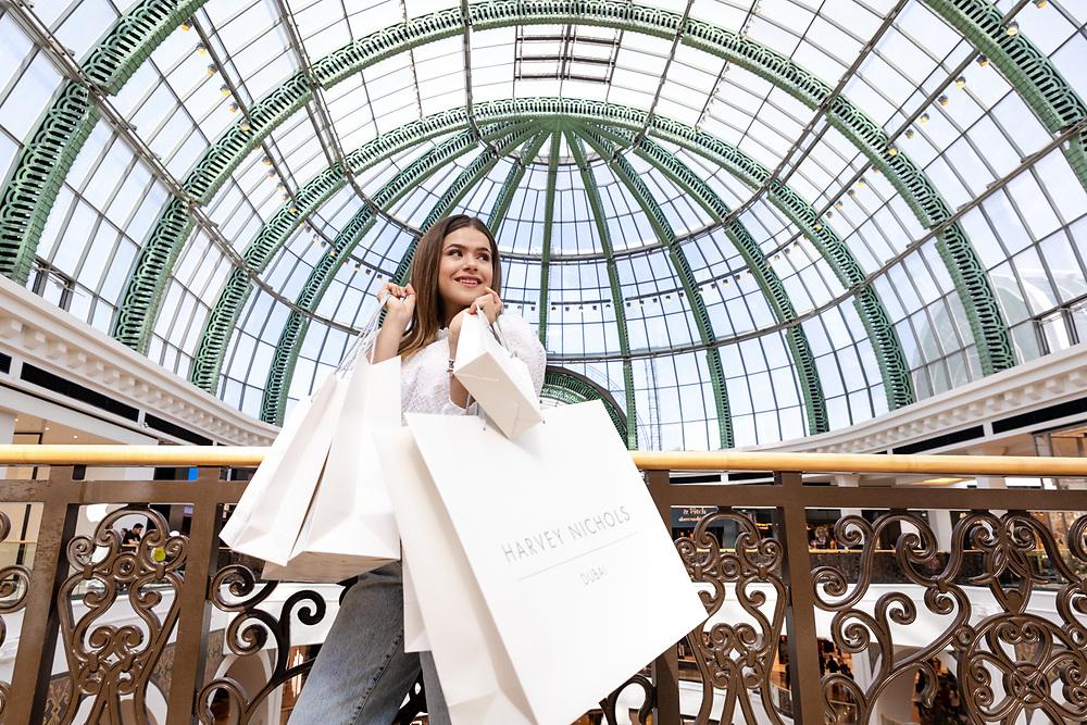 Maisa, Brazilian influencer at Mall of the Emirates, Dubai, as part of Dubai Shopping Festival 2020.