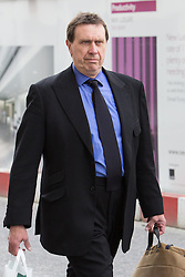 © Licensed to London News Pictures. 17/03/2014. London, UK. Former News of the World royal editor, Clive Goodman arrives at The Old Bailey in London this morning, 17th March 2014 to give evidence at the Phone Hacking Trial. Photo credit : Vickie Flores/LNP