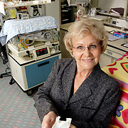 SAN BERNARDINO, CA, June 14, 2007: Sharon Rogone, a former Neonatal Intensive Care Unit (NICU) nurse turned innovator and businesswoman, formed a company called Small Beginnings Inc, which specializes in medical supplies to care and treat premature infants. Her inventions, including the tiny diaper called the Cuddle Buns Diaper, earned her a place in the Smithsonian's Lemelson Center for the Study of Invention and Innovation. Sharon holds one of the tiny diapers.