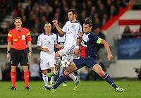 Demy de Zeeuw of RSC Anderlecht and Zlatan Ibrahimovic of PSG - Paris St Germain