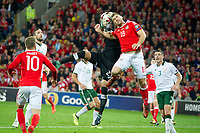 Football - 2017 / 2018 FIFA World Cup Qualifier - Group D: Wales vs. Republic of Ireland<br /> <br /> Sam Vokes of Wales & Darren Randolph of Republic of Ireland at Cardiff City Stadium.<br /> <br /> COLORSPORT/WINSTON BYNORTH