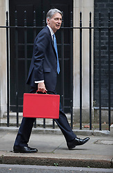 © Licensed to London News Pictures. 08/09/2016. London, UK.  Chancellor Philip Hammond arrives in Downing Street.  Photo credit: Peter Macdiarmid/LNP