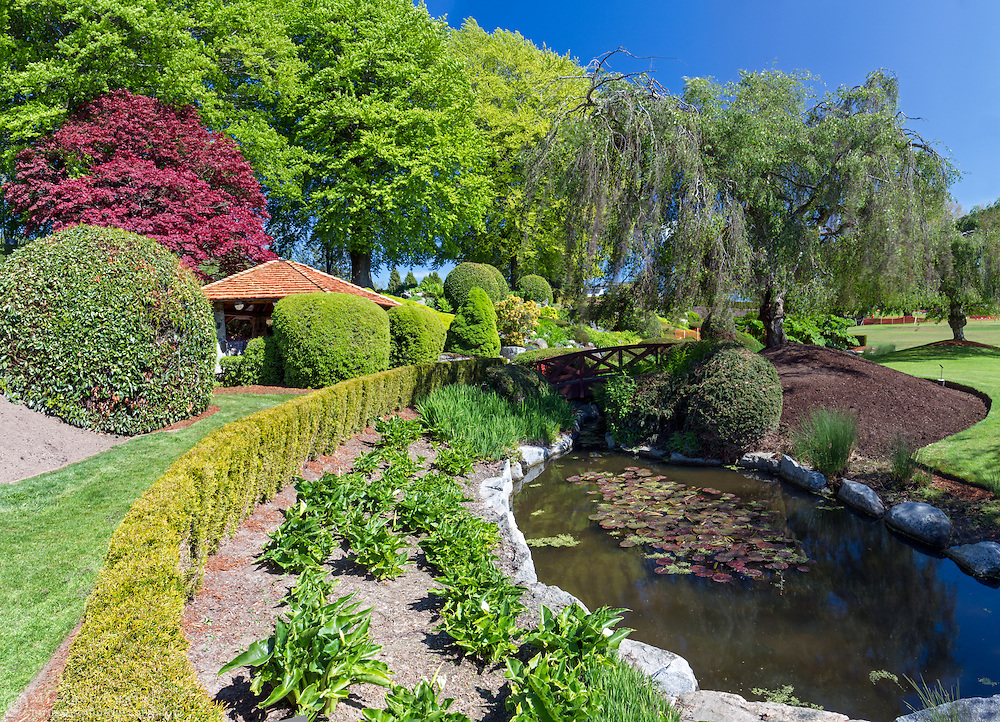 The gardens at Peace Arch Provincial Park in South Surrey, British Columbia, Canada