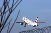 Airfrance Airbus A320 passenger jet at takeoff