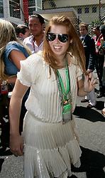 MONTE-CARLO, MONACO - Sunday, May 24, 2009: Princess Beatrice at the Monaco Formula One Grand Prix at the Monte-Carlo Circuit. (Pic by Juergen Tap/Hoch Zwei/Propaganda)