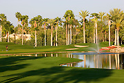 The 9th hole on the Canyon Golf Course at the Phoenician Resort in Scottsdale, Arizona.