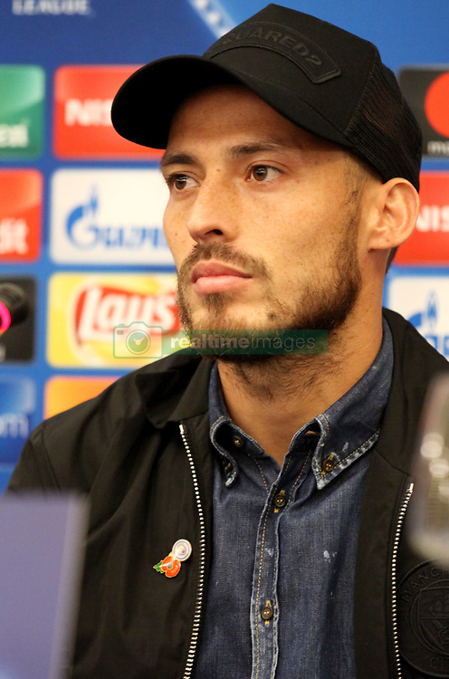 This evening at the Vesuvius hotel in Naples there was the press conference of Manchester City coach, Josep Guardiola and player David Silva who responded to journalists' doubts over the league's Champions League tomorrow against Napoli. in foto Silva