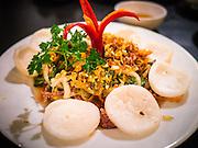 31 MARCH 2012 - HANOI, VIETNAM:   Goi Bo Bop Thau (beef salad with vegetables in spicy sauce) at Quan An Ngon restaurant in Hanoi, Vietnam.  PHOTO BY JACK KURTZ