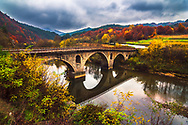 Bridge over Arda river in Rhodope Mountains at autumn
