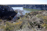 Pecos River as it reaches the Rio Grande between Comstock and Langtry, Texas.