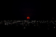 Uberlandia_MG, Brasil..Vista panoramica de Urbelandia ao anoitecer, Minas Gerais...The panoramic of Uberlandia at the dusk, Minas Gerais...Foto: LEO DRUMOND / NITRO