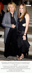 Comedian JENNIFER SAUNDERS and her daughter ELLA EDMONDSON, at a party in London on 15th April 2003. 	PIX 133