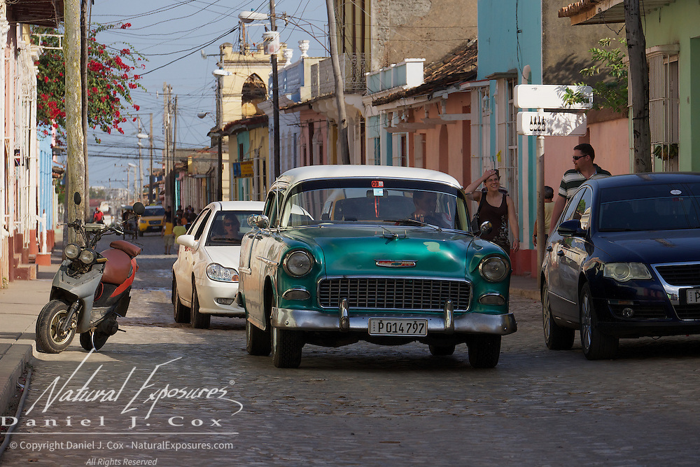 An old vintage Chevy on the streets of Ceinfuegos, Cuba.