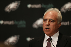 Philadelphia Eagles Owner Jeffrey Lurie speaks to the media during the NFL Press Conference at the Eagles Training Facility to discuss the firing of Head Coach Andy Reid on Monday, December 31st 2012 in Philadelphia. (Photo by Brian Garfinkel)