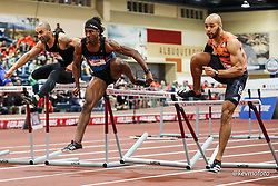 2020 USATF Indoor Championship<br /> Albuquerque, NM 2020-02-15<br /> photo credit: © 2020 Kevin Morris<br /> mens 60 hurdles final
