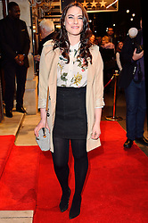 © Licensed to London News Pictures. 16/02/2016. KAT SCHOOB arrives for the press night of Mrs Henderson Presents press night at the Noel Coward Theatre. London, UK. Photo credit: Ray Tang/LNP