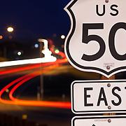 US Highway 50 Tahoe bound On Ramp at Prairie City Rd, Folsom, CA.