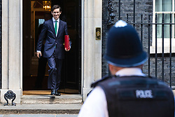 © Licensed to London News Pictures. 21/05/2019. London, UK. Secretary of State for International Development Rory Stewart leaves 10 Downing Street after the Cabinet meeting. Prime Minister Theresa May is expected to make a statement to Paliament outlining changes to the Withdrawal Agreement Bill before it is brought back before Parliament. Photo credit: Rob Pinney/LNP