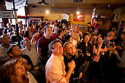 Crowds of spectators watch the World Cup soccer match between England and the USA from Conor O'Neill's Pub in Boulder, Colorado. The match ended in a 1-1 tie.