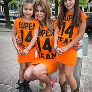 NLD/Netherlands//20140531 -Olcay Gulsen van Supertrash maakt een WK Selfie in haar jurken met haar fans,