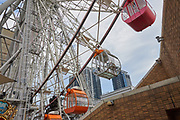 The 70m tall ferris wheel rises above the Miramar Entertainment Park. The second largest ferris wheel in Taiwan, it provides a panoramic view over Taipei city.