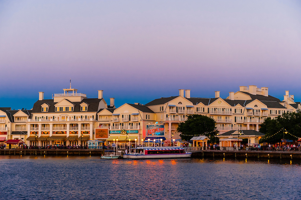 Disney's Board Walk at twilight, Walt Disney World, Orlando, Florida USA