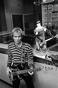 Sting backstage at soundcheck - The Police - The Secret Policeman's ball